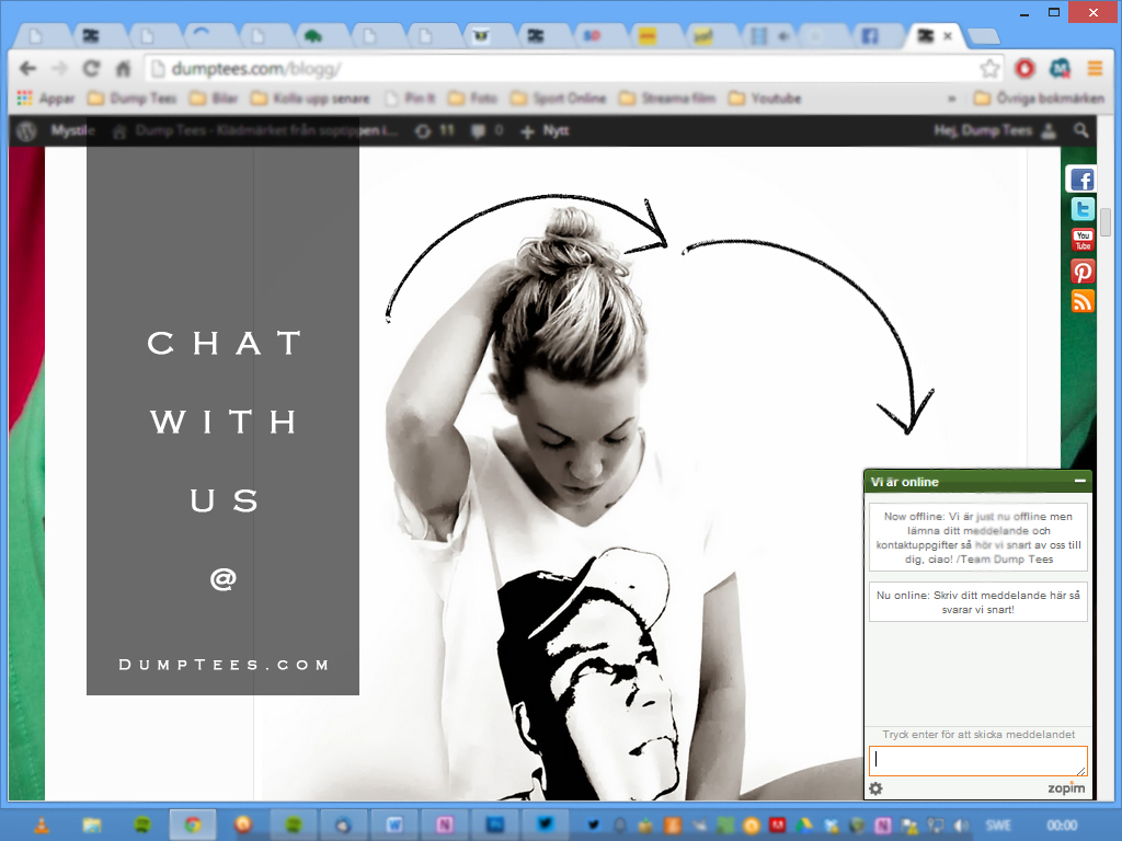 Chat with Dump Tees